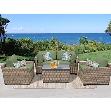 TK Classics Monterey 5 Piece Deep Seating Group w/ Cushion; Cilantro