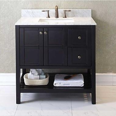 Virtu USA Winterfell 35'' Bathroom Vanity Base; Espresso