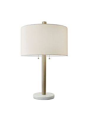 Adesso Avenue Table Lamp, Antique Brass/White (4058-21)