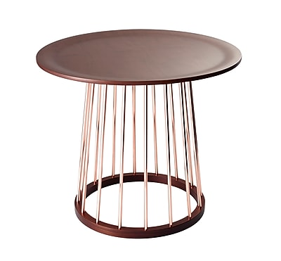 Adesso Barnum Metal End Table, Walnut, Each (WK2360-15)