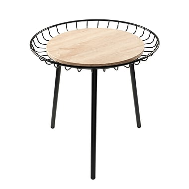 Adesso Palos Heights Wood End Table, Black, Each (WK2450-01)