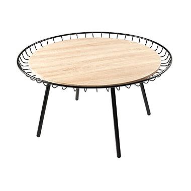 Adesso Loft Wood Coffee Table, Black, Each (WK2451-01)