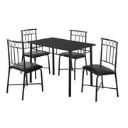 Monarch – Ensemble de salle à manger 5 pièces I 1018, métal noir