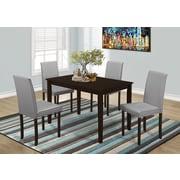 Monarch – Table de salle à manger I 1178, 30 x 48 po, placage de cappuccino