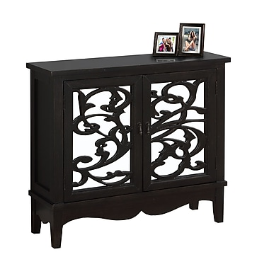 Monarch I 3841 Accent Chest, Mirror Traditional Style, Antique Black