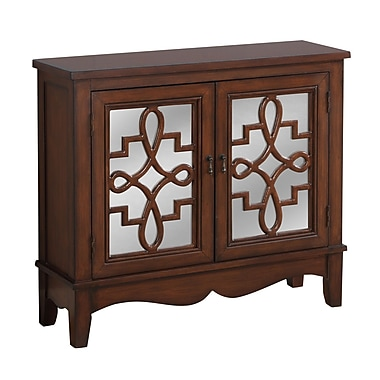 Monarch I 3846 Accent Chest, Mirror Traditional Style, Dark Walnut
