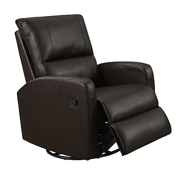 Monarch I 8084BR Recliner, Swivel Glider, Dark Brown Bonded Leather