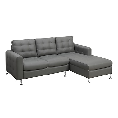 Monarch I 8380LG Sofa Lounger, Light Grey Bonded Leather
