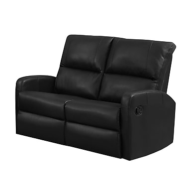 Monarch I 84BK-2 Reclining, Black Bonded Leather Love Seat