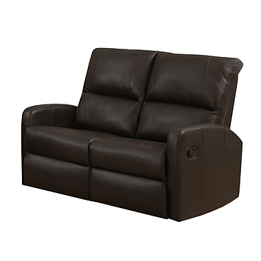 Monarch I 84BR-2 Reclining, Dark Brown Bonded Leather Love Seat