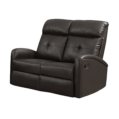 Monarch I 88BR-2 Reclining, Dark Brown Bonded Leather Love Seat