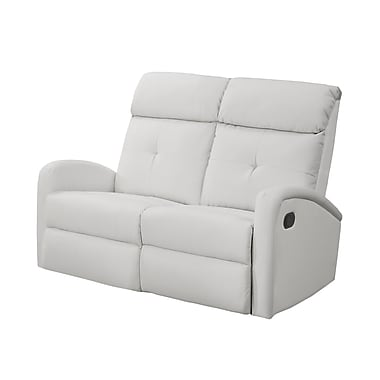 Monarch – Causeuse inclinable I 88WH-2, cuir reconstitué, blanc