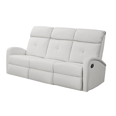 Monarch – Fauteuil inclinable I 88WH-3, cuir reconstitué, blanc
