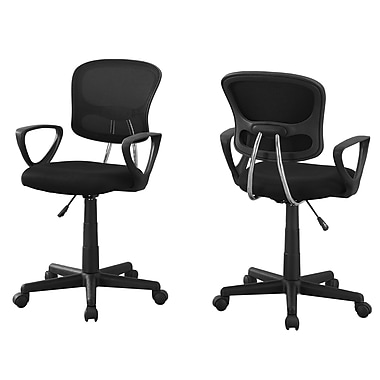 Monarch I 7260 Juvenile Office Chair, Black