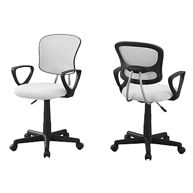 Monarch I 7261 Juvenile Office Chair, White