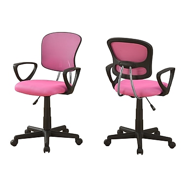 Monarch I 7263 Juvenlie Office Chair, Pink