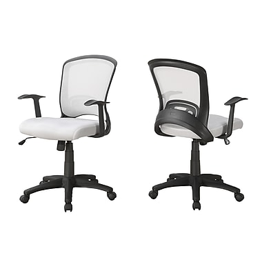 Monarch I 7266 Office Chair, White