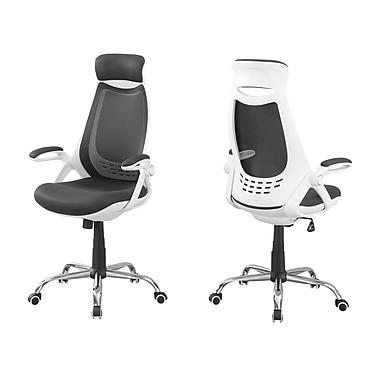 Monarch – Chaise de bureau, dossier haut, I 7269, blanc