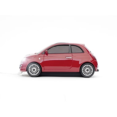 Click Car Fiat 500 New Red Wired Mouse, (CCM660356)