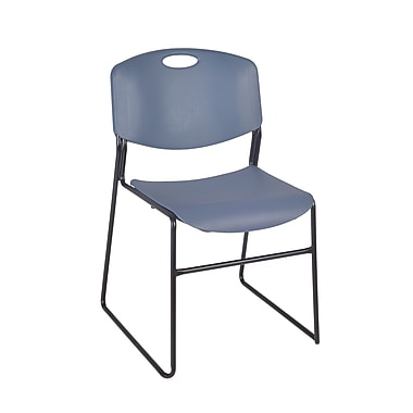 Regency Zeng Metal/Polypropylene Stack Chair, Blue (4400BE)