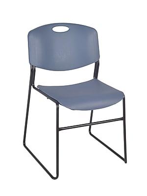 Regency Zeng Metal/Polypropylene Stack Chair, Blue (4400BE)