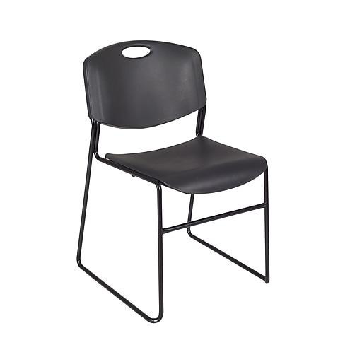 Regency Zeng Metal Stack Chair, Black (4400BK)