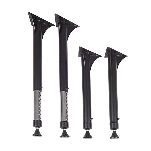 Regency 22 33 Tubular Steel Adjule Height Table Legs Black Mabp27bk Staples