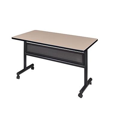 Regency Kobe 48'' Rectangular Flip Top Training Table, Beige (MKFTM4824BE)