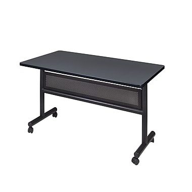 Regency Kobe 48'' Rectangular Flip Top Training Table, Gray (MKFTM4824GY)