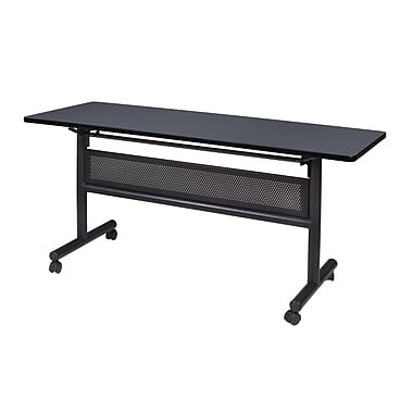 Regency Kobe 60'' Rectangular Flip Top Training Table, Gray (MKFTM6024GY)