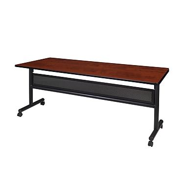 Regency Kobe 72'' Rectangular Flip Top Training Table, Cherry (MKFTM7224CH)