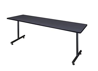 Regency Kobe 84'' Rectangular Training Table, Gray (MKTRCT8424GY)