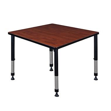 Regency – Table carrée à hauteur réglable Kee pour salle de classe, 36 po, cerise (TB3636CHAPBK)