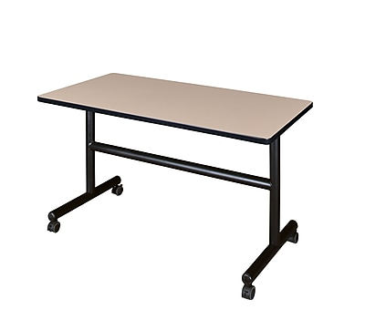 Regency Kobe 48'' Rectangular Flip Top Training Table, Beige (MKFT4830BE)