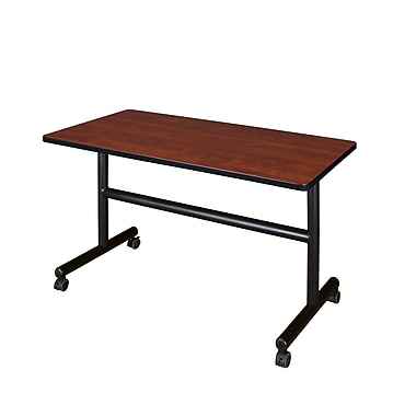 Regency Kobe 48'' Rectangular Flip Top Training Table, Cherry (MKFT4830CH)
