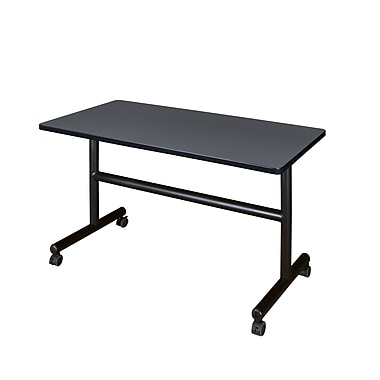 Regency Kobe 48'' Rectangular Flip Top Training Table, Gray (MKFT4830GY)