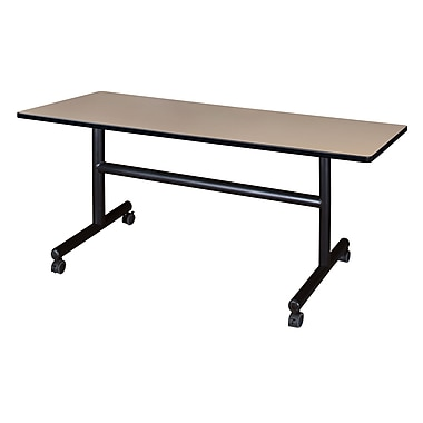 Regency Kobe 60'' Rectangular Flip Top Training Table, Beige (MKFT6030BE)