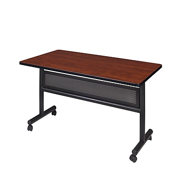 Regency Kobe 48'' Rectangular Flip Top Training Table, Cherry (MKFTM4830CH)