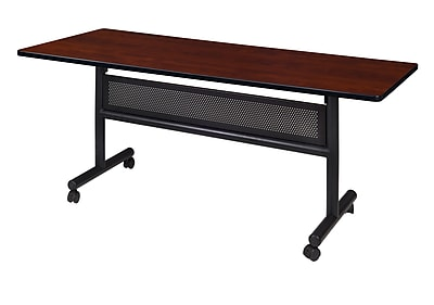 Regency Kobe 60'' Rectangular Flip Top Training Table, Cherry (MKFTM6030CH)