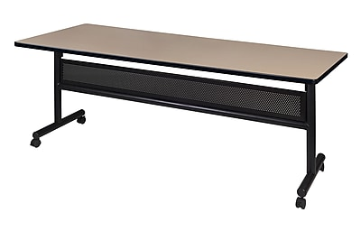 Regency Kobe 72'' Rectangular Flip Top Training Table, Beige (MKFTM7230BE)