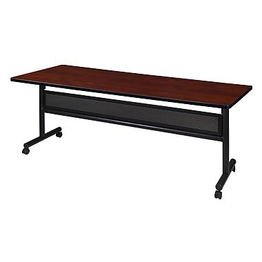 Regency Kobe 72'' Rectangular Flip Top Training Table, Cherry (MKFTM7230CH)