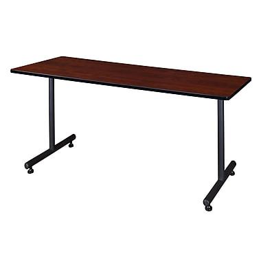 Regency – Table Kobe en métal et en bois de 66 x 30 po, cerisier (MKTRCT6630CH)