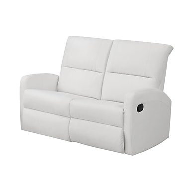 Monarch I 84WH-2 Reclining, White Bonded Leather Love Seat