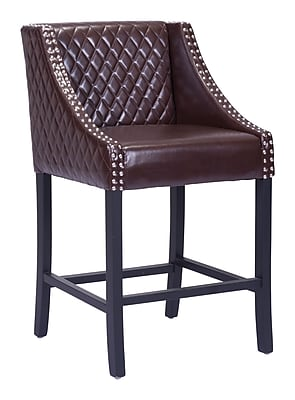 Zuo Modern Santa Ana Counter Chair Brown (WC98606)