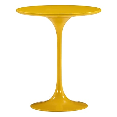 Zuo Modern – Table d'appoint Wilco, jaune (WC401144)