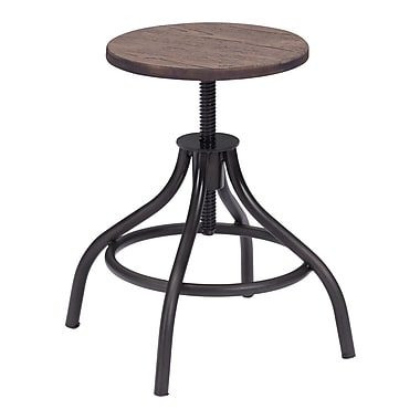Zuo Modern Plato Stool Rustic Wood (WC98185)
