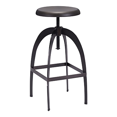 Zuo Modern Aristotle Barstool Antique Black (WC98186)
