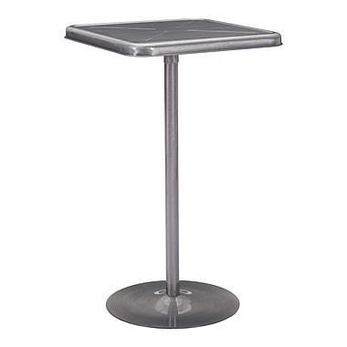 Zuo Modern – Table de bar Mallus, gris métallique (WC109129)
