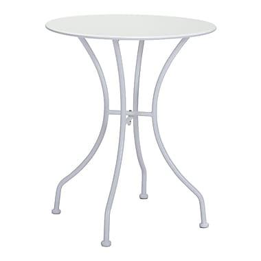 Zuo Modern – Table de salle à manger ronde Oz, blanc (WC703606)