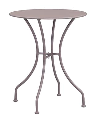Zuo Modern Oz Dining Round Table Taupe (WC703607)